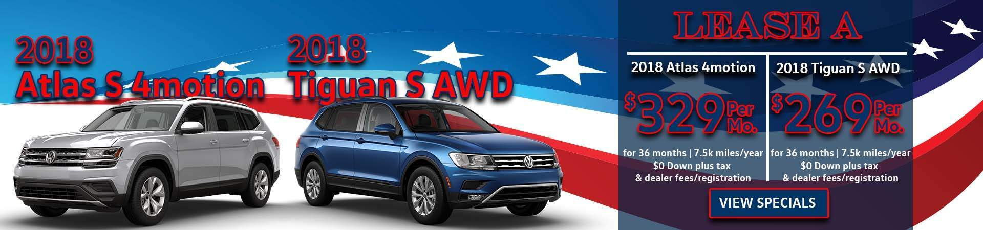 February Tiguan and Atlas Slide