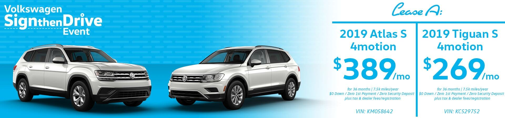 March Atlas and Tiguan Slide
