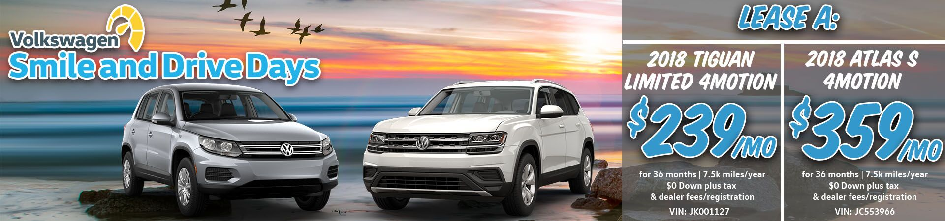 July Tiguan Limited and Atlas Slide