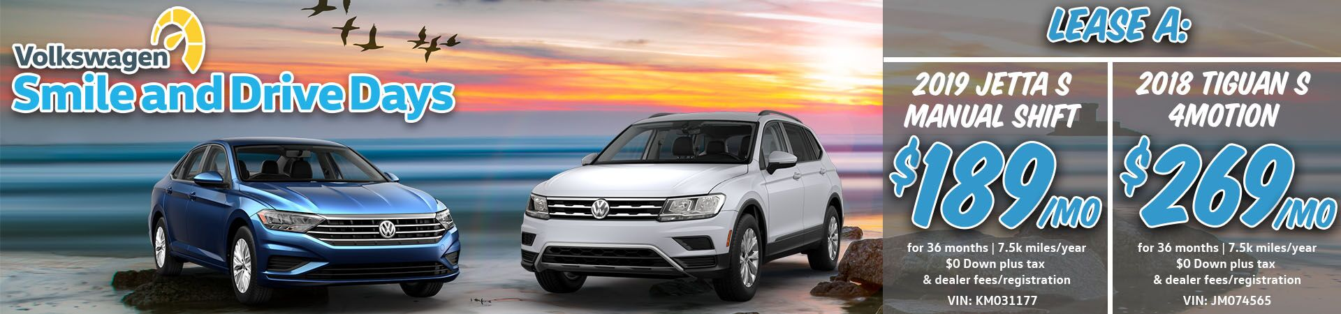 July Jetta and Tiguan Slide