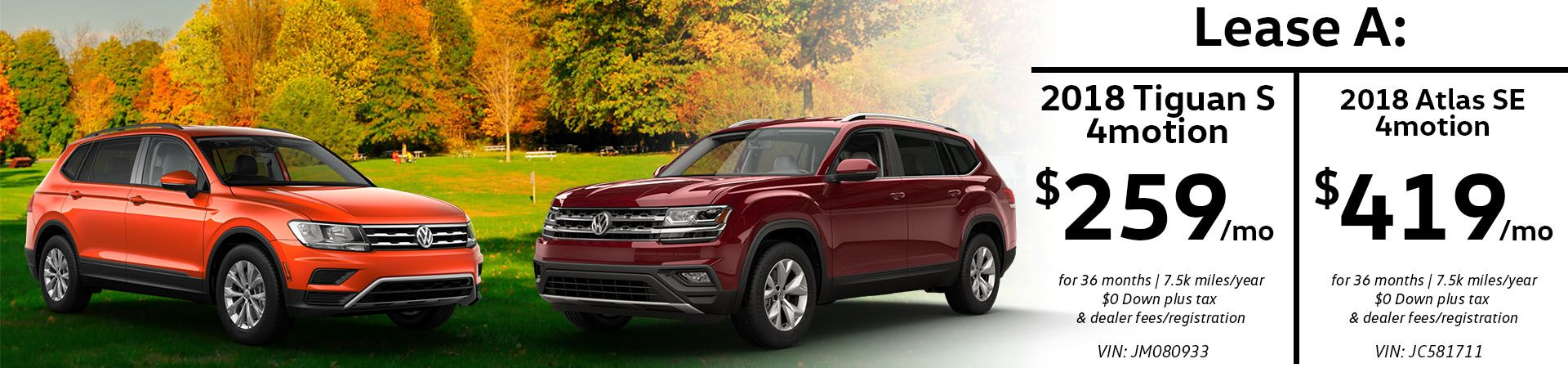 November Tiguan and Atlas Slide