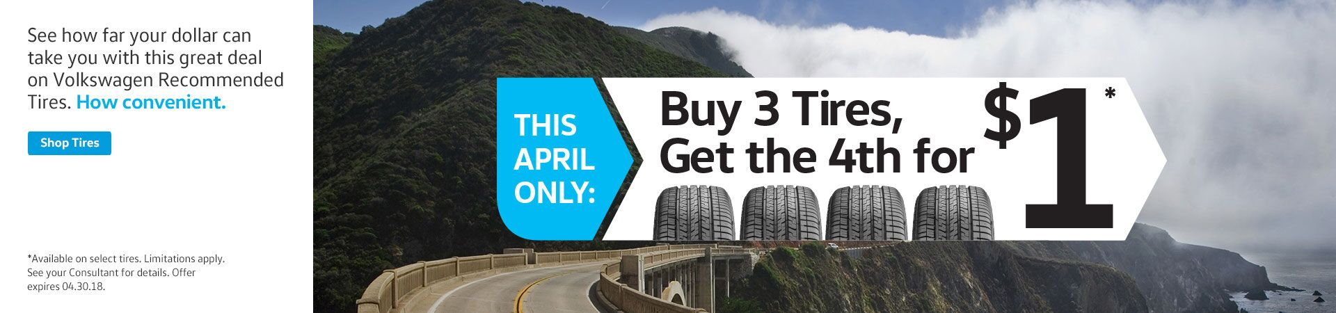 April Tire Promotion Offer