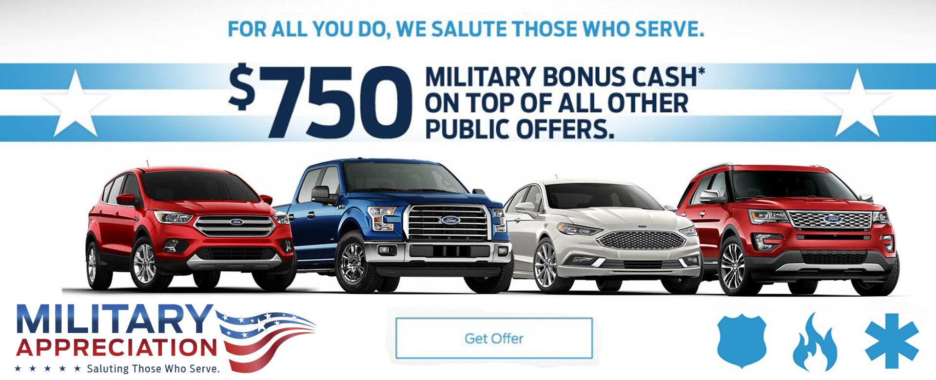 Military First Responder Bonus Cash