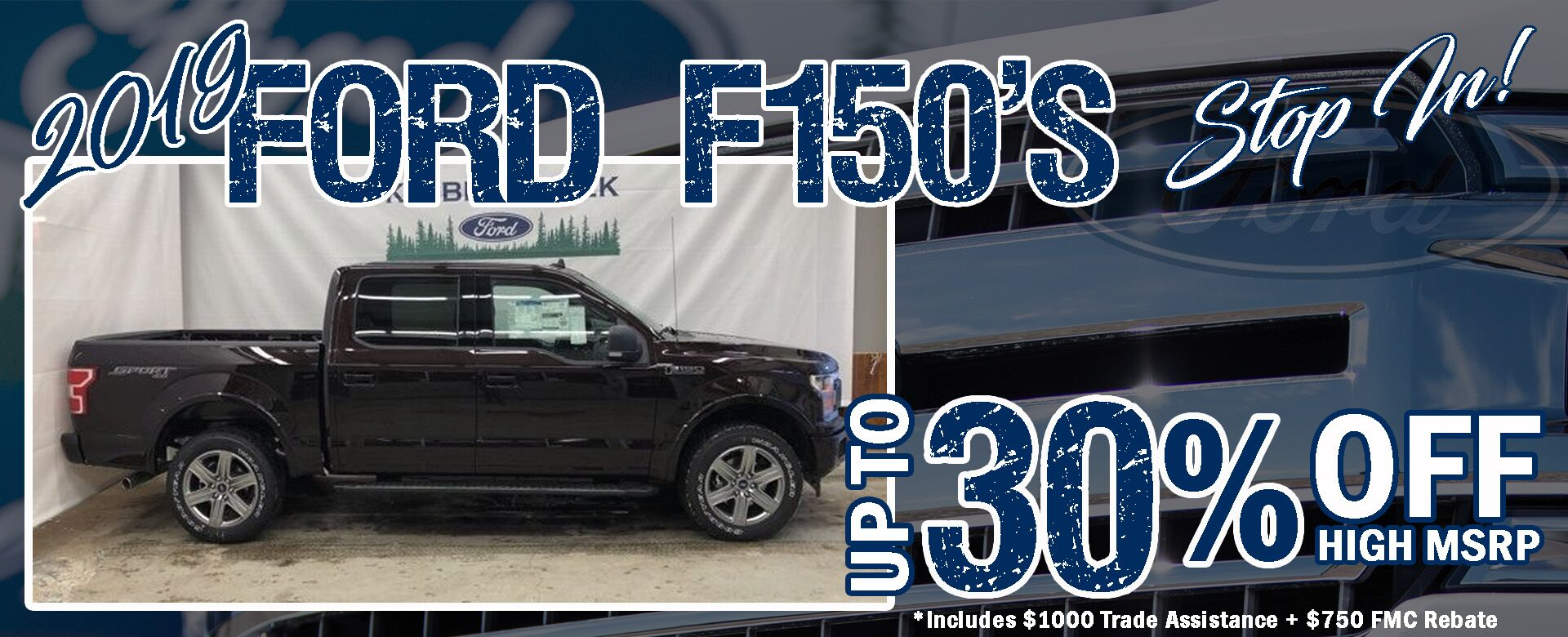 30% off Ford F-150s