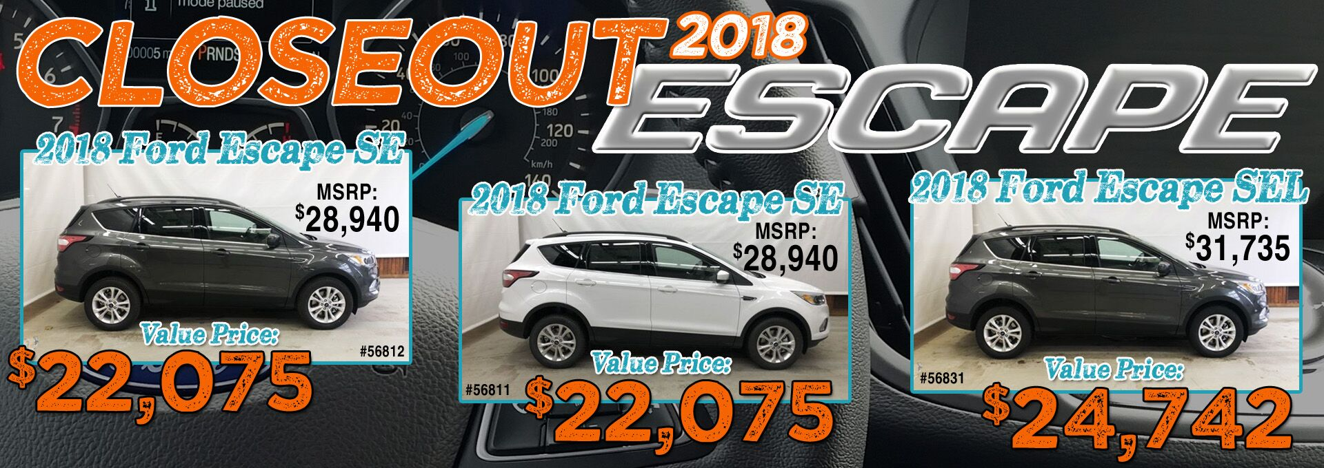 2018 Escape Closeout