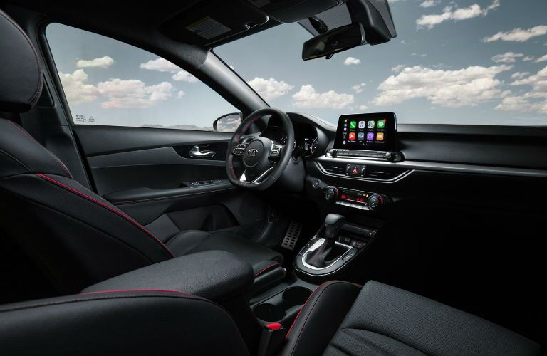 Interior view of 2021 Kia Forte