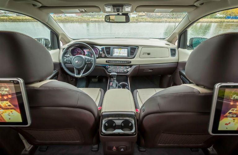 Interior view of 2021 Kia Sedona