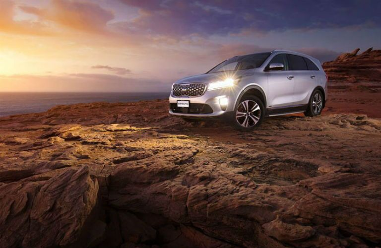 2019 Kia Sportage overlooking a sunset