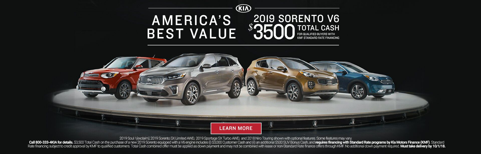 America's Best Value 2019 Sorento Friendly Kia