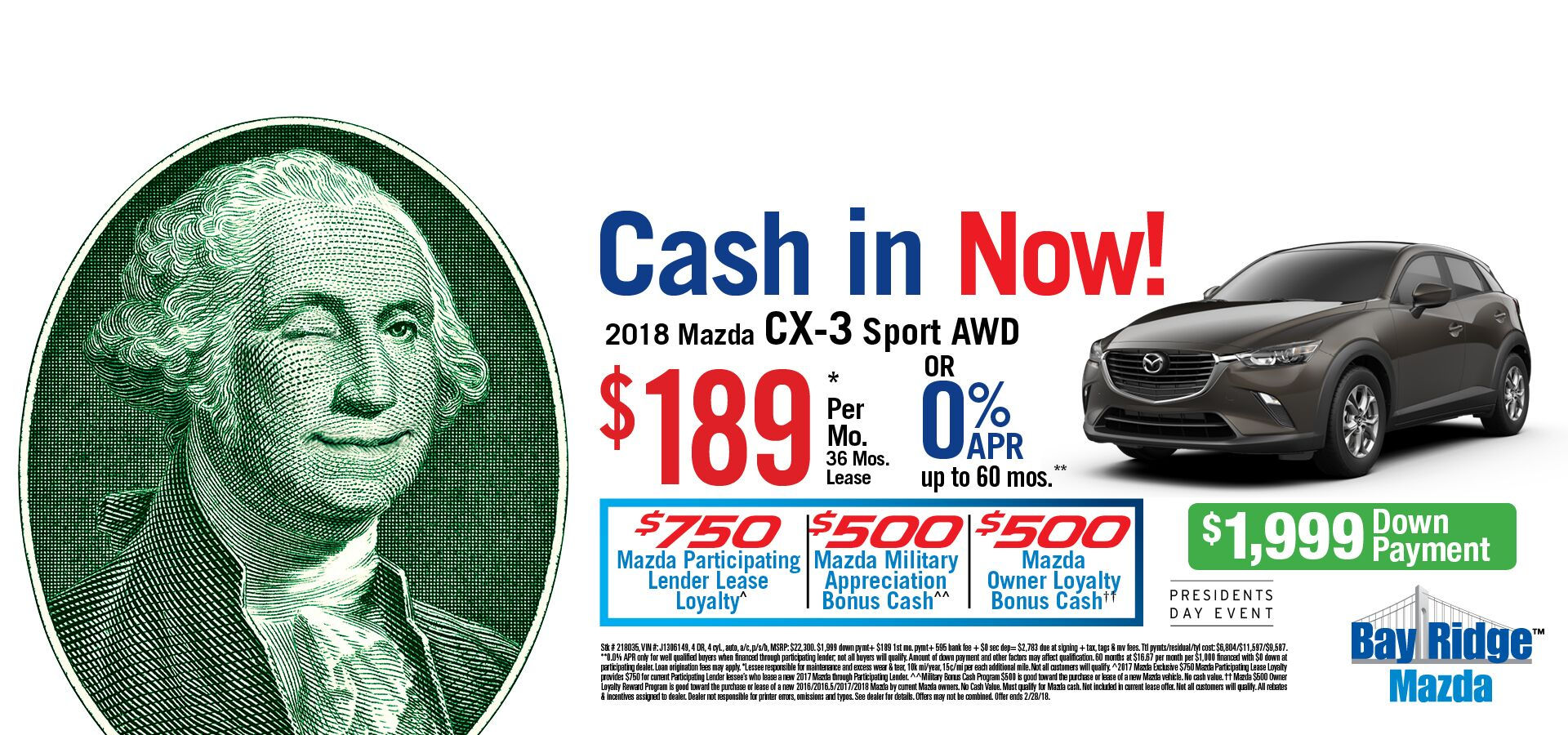 Cash In Now CX-3