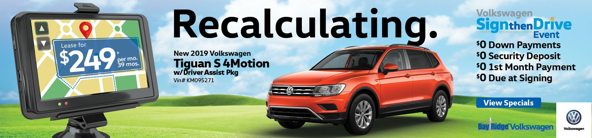April Tiguan S Lease Special