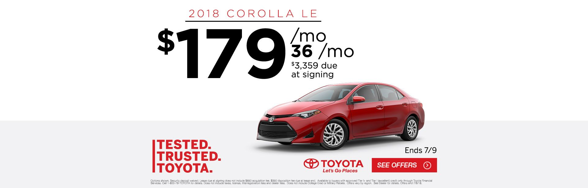 Tested Trusted Toyota Corolla 2018