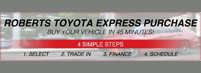 Roberts Toyota Express Purchase
