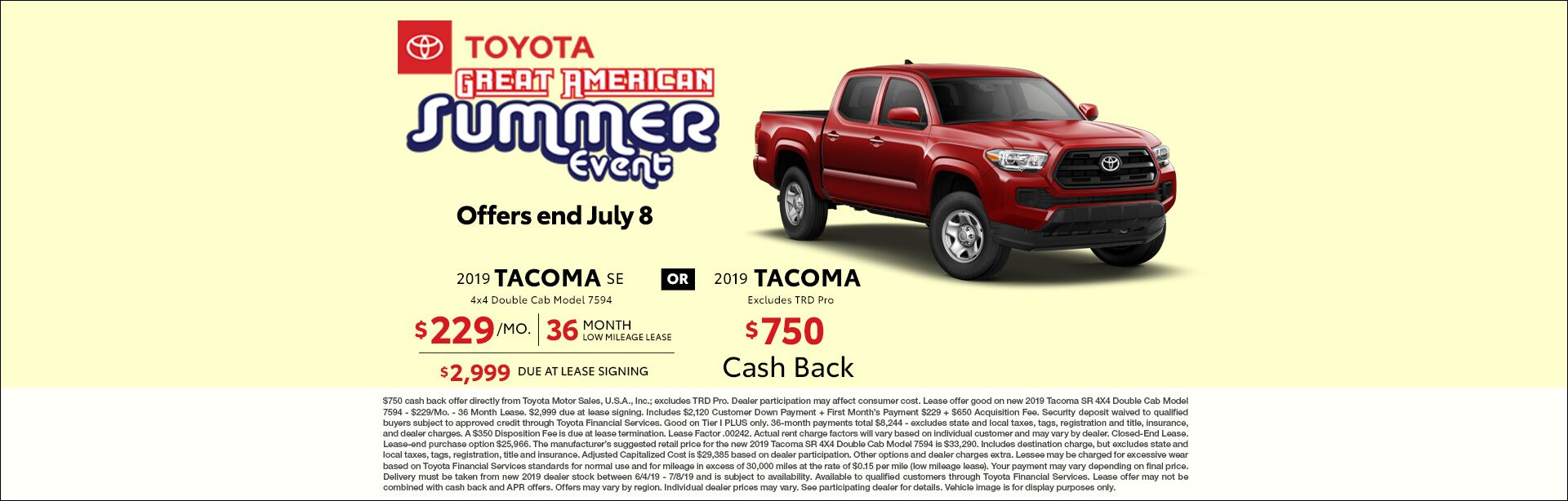 2019 June CIN Toyota Great American Summer Sales Event Tacoma