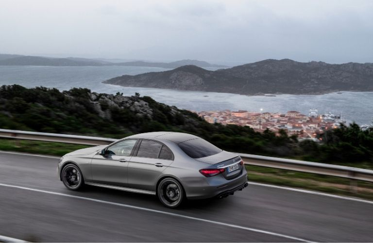 2021 MB E-Class exterior back fascia driver side by ocean