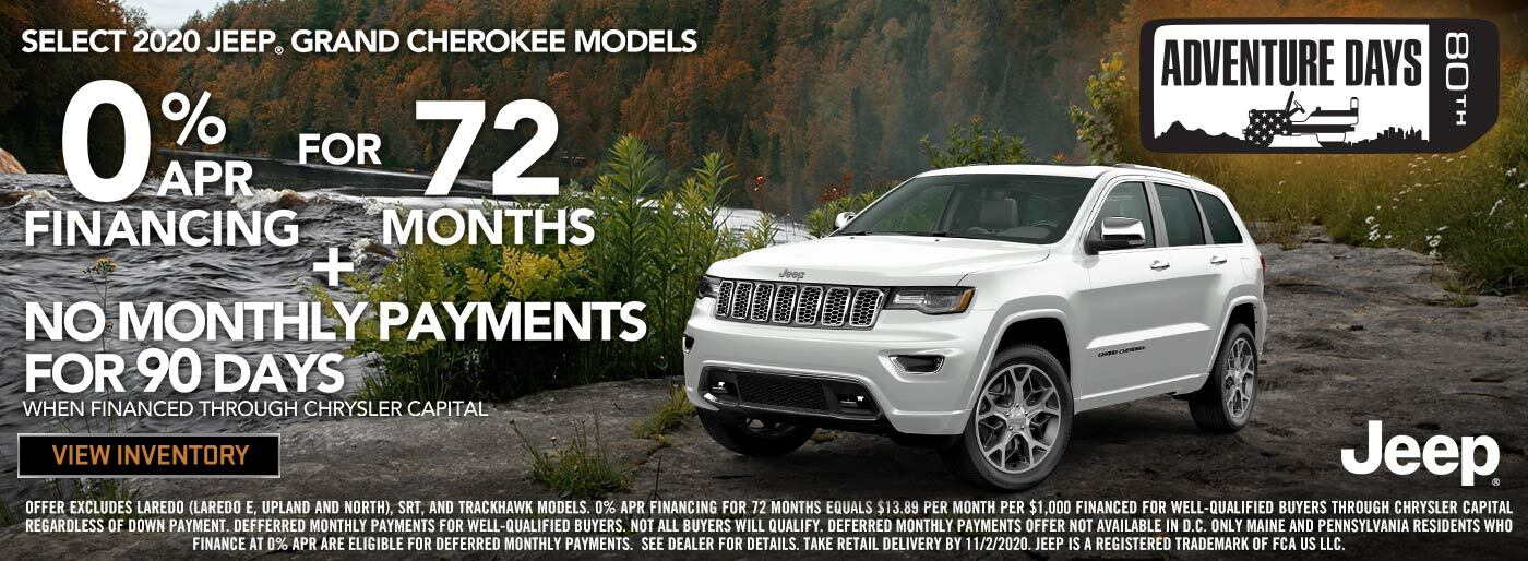 2020 Jeep Grand Cherokee 0%APR for 72 months