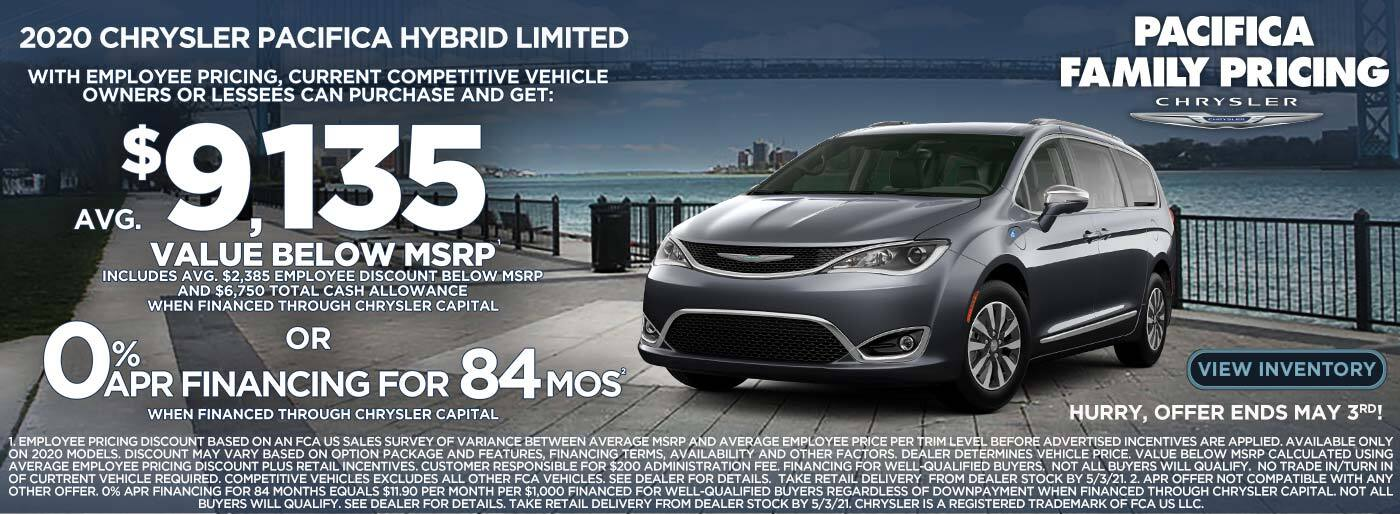 Pacifica hybrid $ 9,135