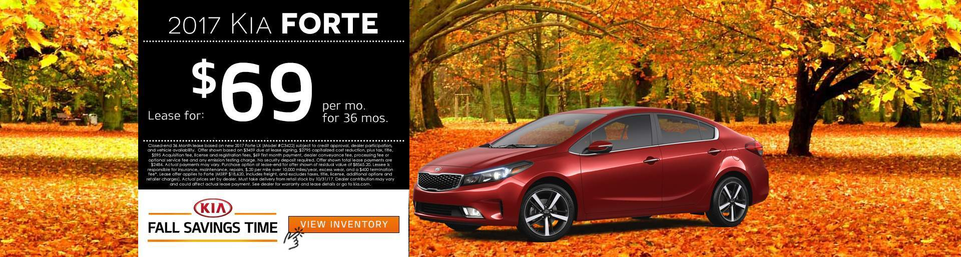2017 Kia Forte Lease Offer