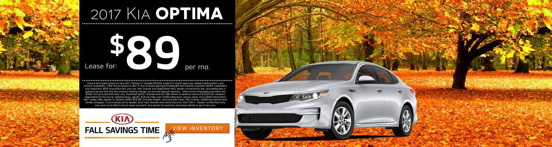2017 Kia Optima Lease Offer