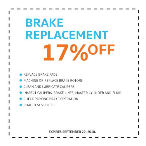 Brake Replacement - 17%...