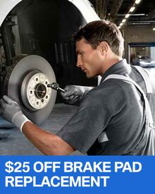 $25 OFF Brake Pad Replacement - BMW