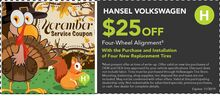 $35 OFF Four Wheel Alignment