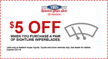 $5 Off Sightline Wiper Blade Purchase