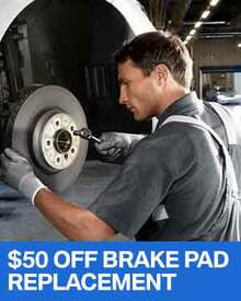 $50 OFF Brake Pad Replacement - BMW