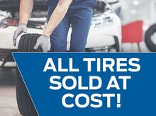 All Tires Sold At Cost!