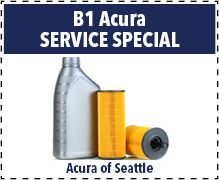B1 Acura Oil Change Special
