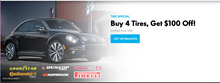 Buy 4 Tires, Get $100 Off!