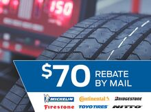 Buy Four Select Tires, Get Up To A $70 Rebate By Mail