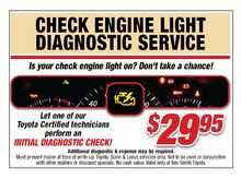 Check Engine Light Diagnosis Service