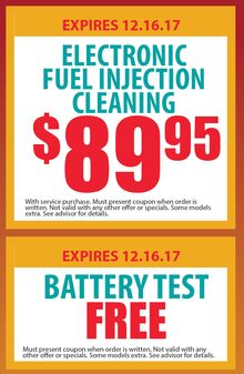 Electronic Fuel Injection Cleaning and Battery Test