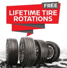 FREE Lifetime Tire Rotation with Purchase of 4 Tires