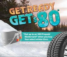 Get up to $80 When Purchasing Four Select Winter Tires