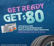 Get up to $80 with Our Winter Tire Special