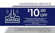 Maintenance Service B Special