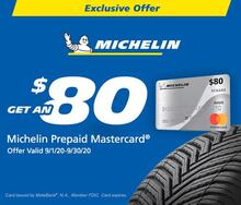 Receive an $80 MasterCard Reward Card with Michelin
