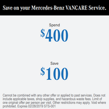 Save on your Mercedes-Benz VANCARE Service