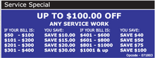 Up to $100.00 OFF