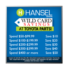 Wild Card Savings in the Parts Department!