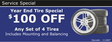 YEAR END TIRE SPECIAL