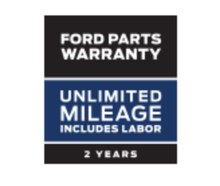 FORD PARTS WARRANTY: TWO YEARS. UNLIMITED MILEAGE.