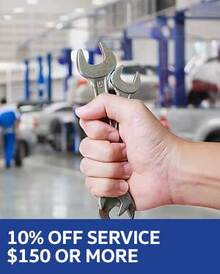 10% OFF Any Service $150 or More - VW
