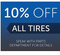 10% Off All Tires