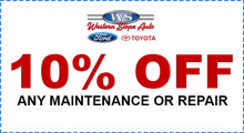 10% Off Any Maintenance or Repair