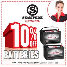 10% Off Batteries