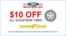 $10 Off Goodyear Tires