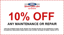 10% Off Maintenance or Repair